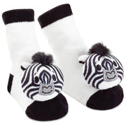 Noah's Ark Zebra Baby Rattle Socks (itty bittys) - Unique Catholic Gifts
