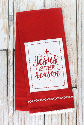 Jesus in the Reason Tea Towel