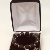 Jet Black Bead Bracelet - Unique Catholic Gifts