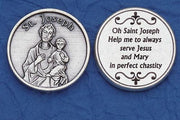 St. Joseph Italian Pocket Token Coin - Unique Catholic Gifts