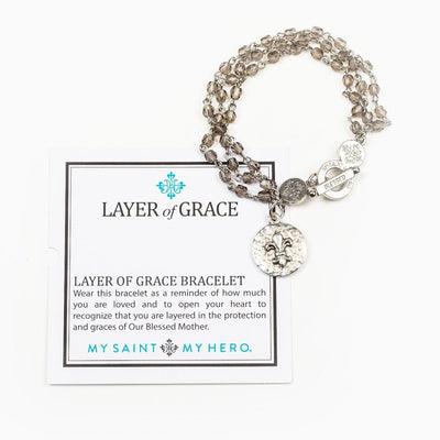 Silver Layer of Grace Bracelet - Unique Catholic Gifts