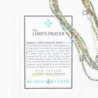 The Lord's Prayer Morse Code Prayer Rope - Unique Catholic Gifts