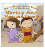 Mary and Joseph, María y José Libro Bilingue Little Bible Heroes - Unique Catholic Gifts