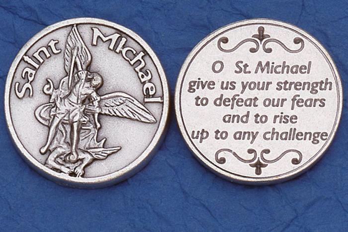 St. Michael the Archangel (Rise to Challenge) Italian Pocket Token Coin - Unique Catholic Gifts