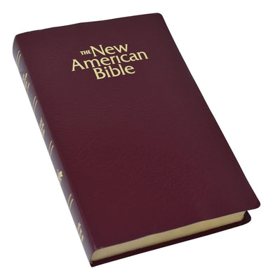 N.A.B. Gift & Award Bible (Burgundy) Leatherette - Unique Catholic Gifts