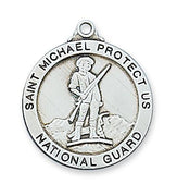 "Sterling Silver Saint St Michael National Guard (14/16"") - Unique Catholic Gifts"