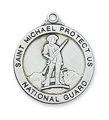 Sterling Silver Saint St Michael National Guard (14/16