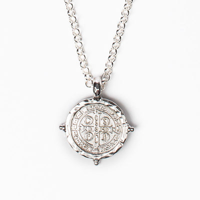 Benedictine Medallion Silver