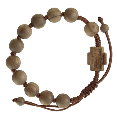 Olive Wood Rosary Bracelet (10 MM)