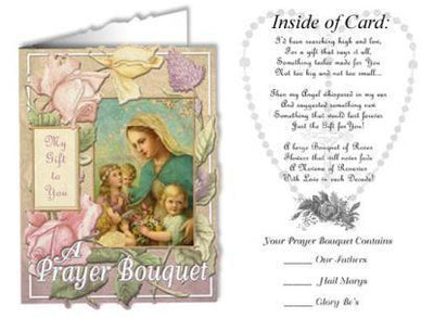 Pack of Prayer Bouquet Holy Greeting Cards - Unique Catholic Gifts