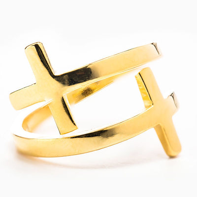 Pillar of Faith Ring Gold