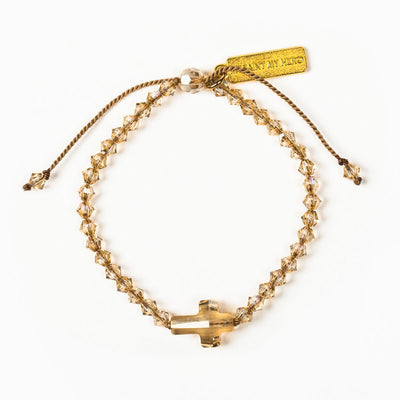 Golden Shadow Radiant Let there be Light Bracelet - Unique Catholic Gifts