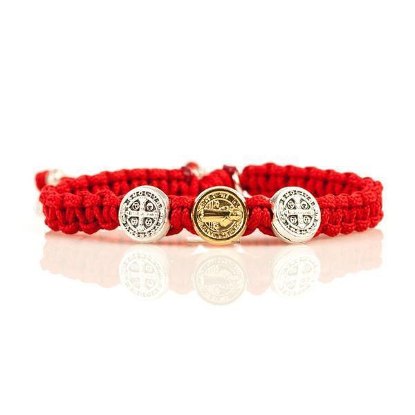 Blessing for Kids Benedictine Blessing Bracelet (RED)