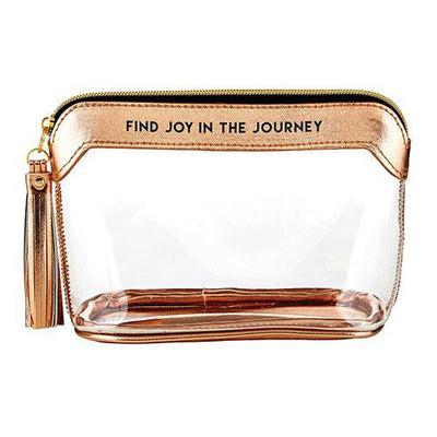 Find Joy in the Journey Metallic Rose Gold Stadium Bag - Unique Catholic Gifts