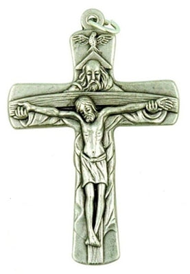 Holy Trinity Metal Crucifix - Unique Catholic Gifts
