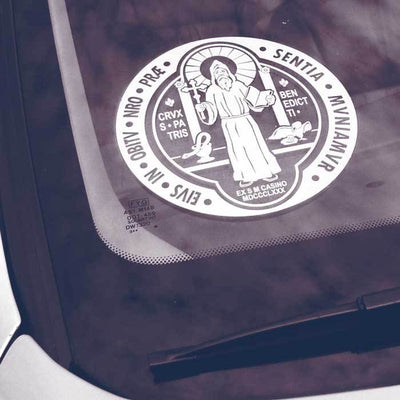 Saint Benedict Transparent Car Decal