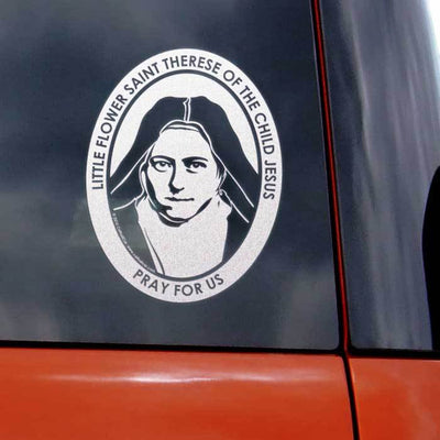 Saint Therese Little Flower Transparent Car Decal