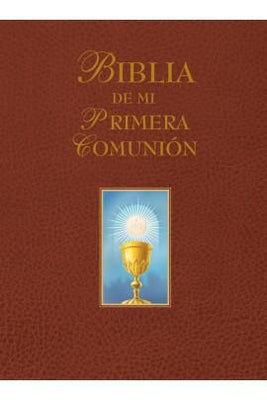 Biblia de mi Primera Comunión (Marrón). - Unique Catholic Gifts