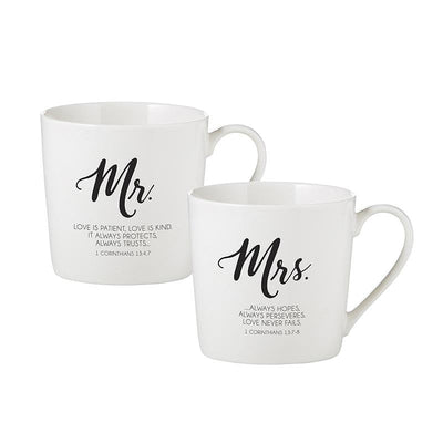 First Corinthians 13 Husband and Wife Mugs - Unique Catholic Gifts
