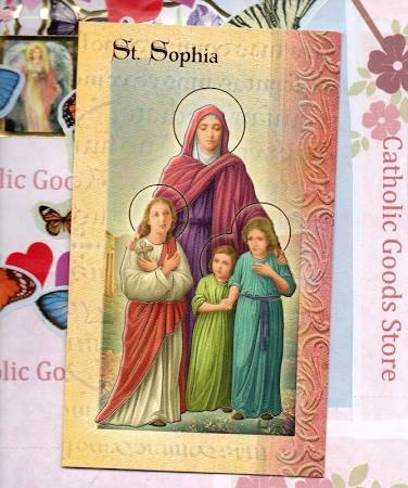 Biography Card of St. Sophia - Unique Catholic Gifts