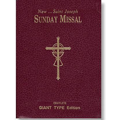 St. Joseph Sunday Missal (Large Type) - Unique Catholic Gifts