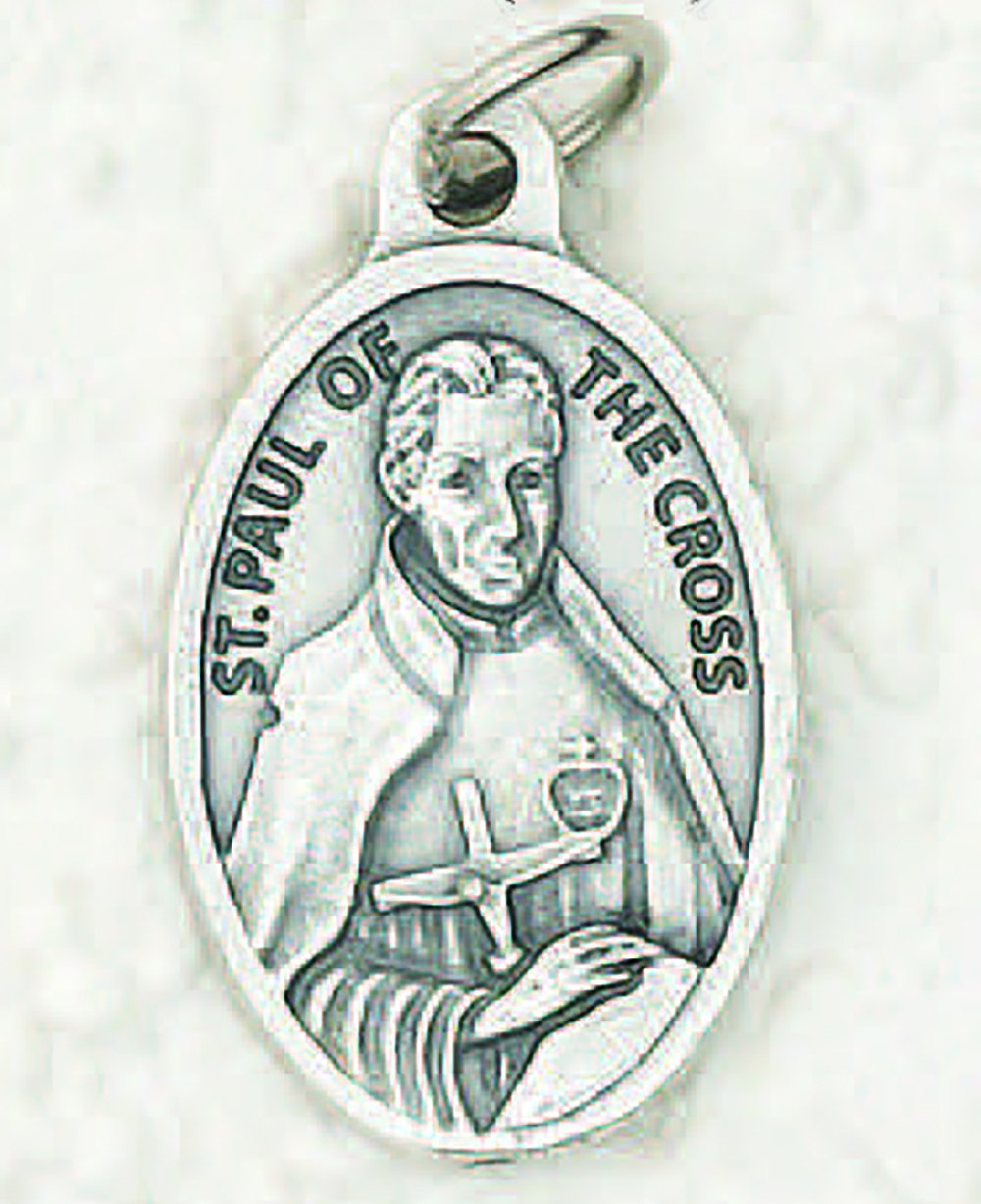 "Saint Paul of the Cross Pray for Us Medal (1"") - Unique Catholic Gifts"