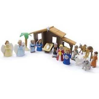 Tales of Glory Nativity Set with Talking Mary Figurine. - Unique Catholic Gifts