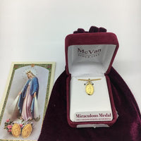 "Gold over Sterling Silver Miraculous Medal (1/2"") - Unique Catholic Gifts"