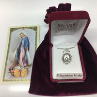 "STERLING SILVER MIRACULOUS 18CH & BX"" - Unique Catholic Gifts"