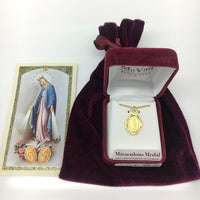 "Gold over Sterling Silver Miraculous Medal (3/4"") - Unique Catholic Gifts"