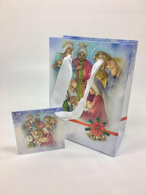 Nativity with Three Kings Gift Bag (Small) - Unique Catholic Gifts