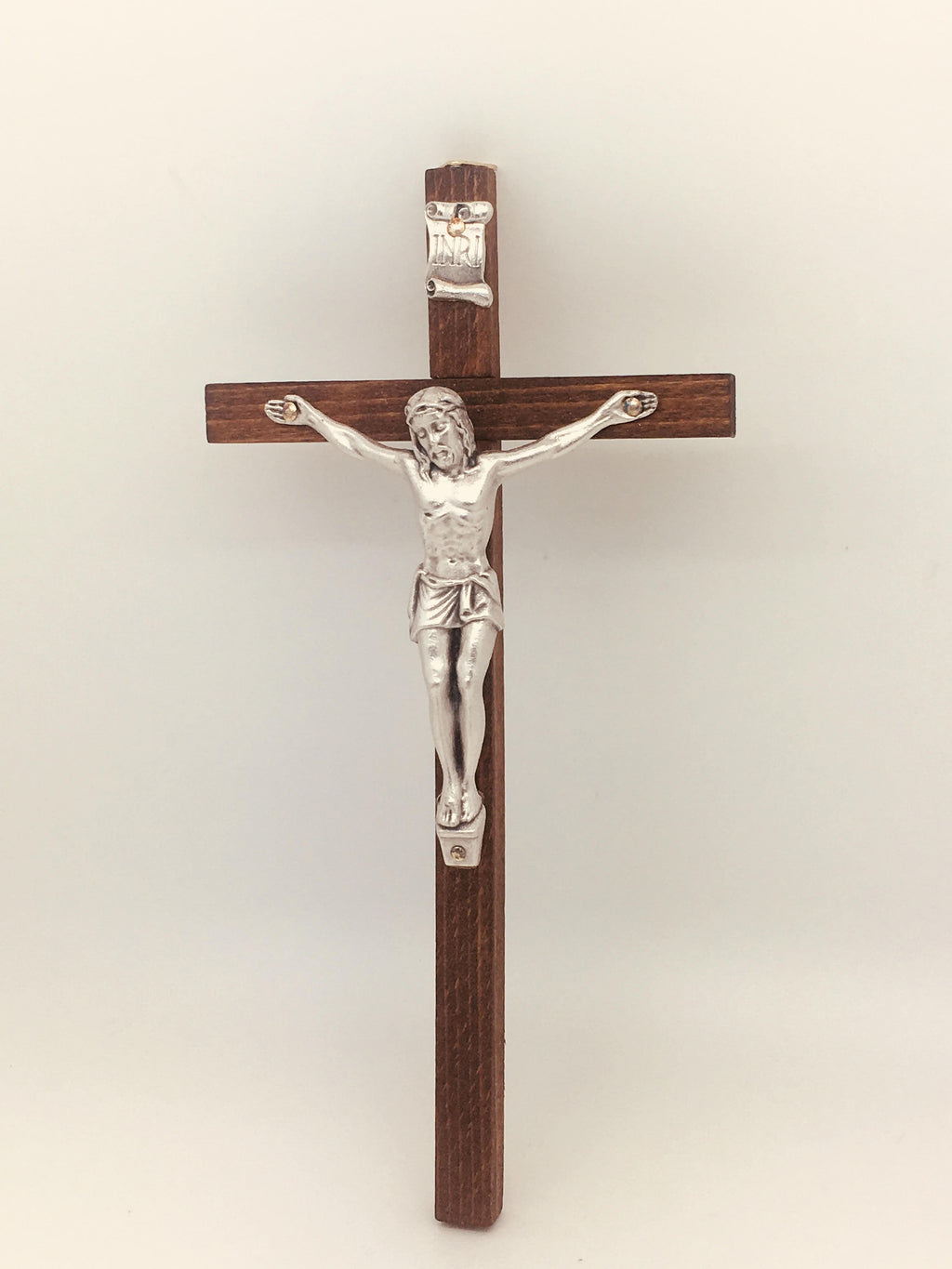 "Slim-line wood Crucifix made in Italy (8"") - Unique Catholic Gifts"