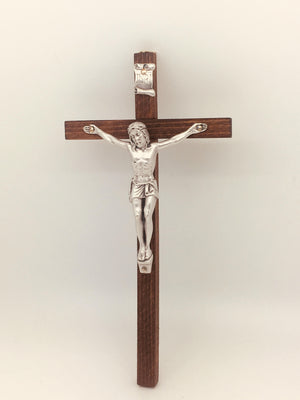 Slim-line wood Crucifix made in Italy (8