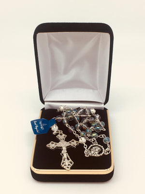 Crystal Rosary with Real Crystal - Unique Catholic Gifts