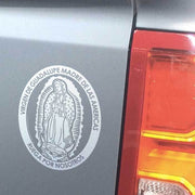 "Virgen de Guadalupe Transparent Car Decal (4.25 × 5.75"") - Unique Catholic Gifts"