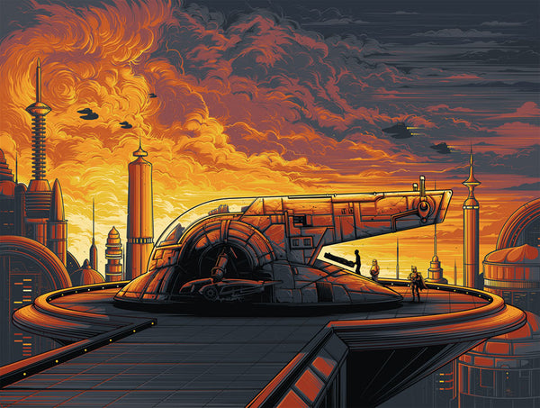 Cloud City by Dan Mumford | Star Wars print