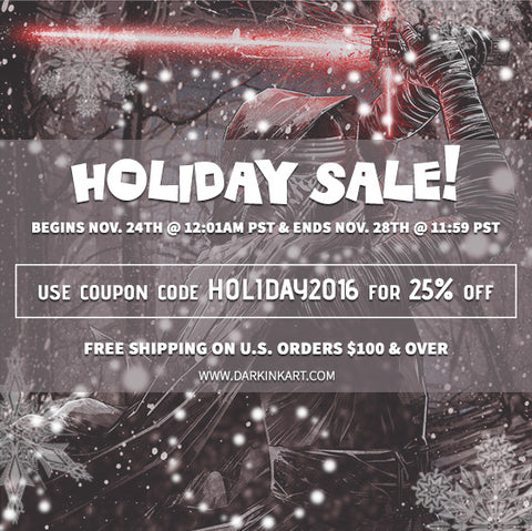 Dark Ink Holiday Sale 25% Off