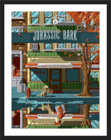 Jurassic Bark by Florey | Bottleneck Gallery Futurama release