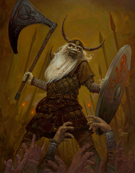 Viking Eddie by Jaime Carrillo | Iron Maiden