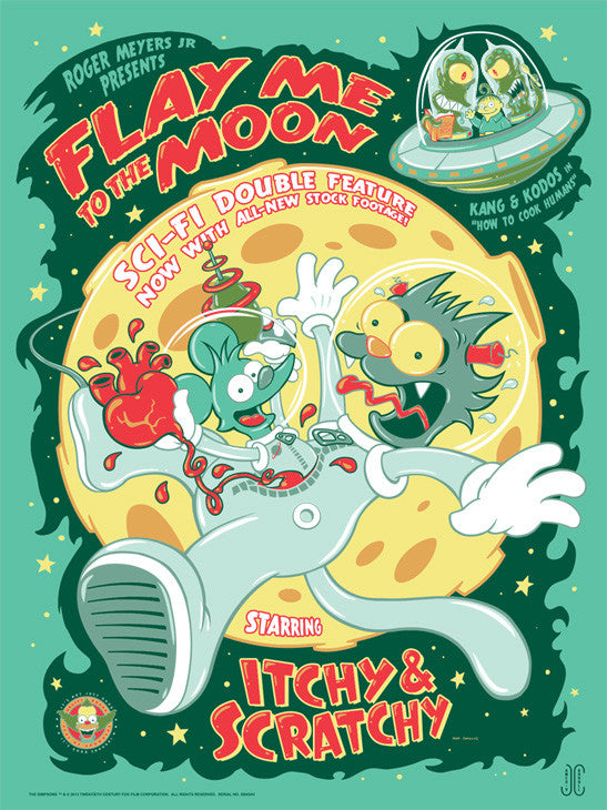 Flay Me to the Moon Variant by James Carroll