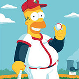 Homer at the Bat by Brian Miller | The Simpsons thumb