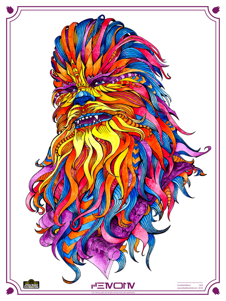 Chewie by Alex Buechel | Star Wars Celebration Chicago