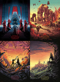 """The Last Jedi Set of 4"" Timed Edition by Dan Mumford 