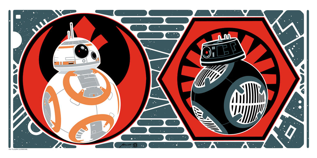 BB-8 and BB-9E by Brian Miller | Star Wars