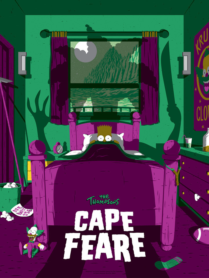 The Simpsons Cape Fear variant by Florey
