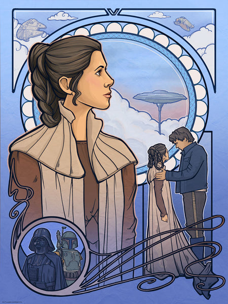 Cloud City Nouveau by Karen Hallion