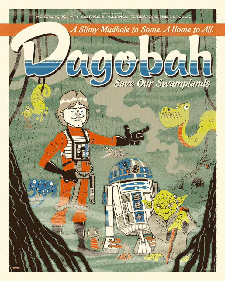 Dagobah: Save Our Swamplands by Ian Glaubinger | Star Wars