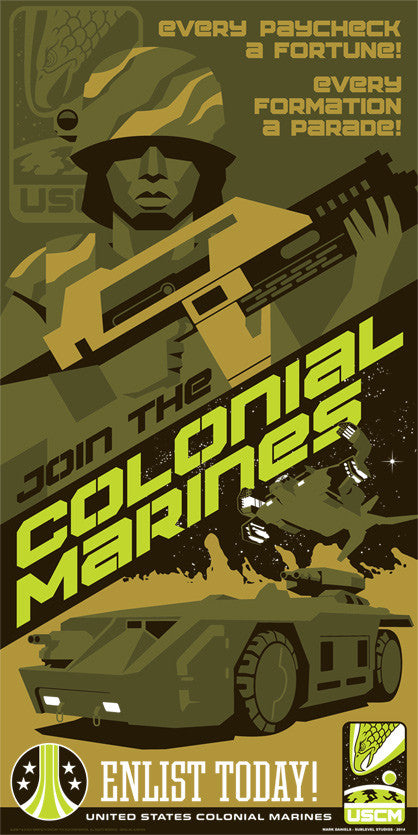 Join the Colonial Marines by Mark Daniels