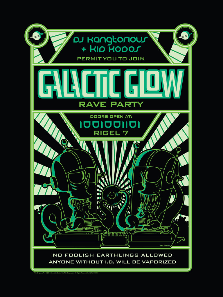 Galactic Glow | The Simpsons