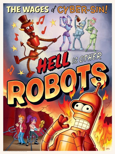 Hell is Other Robots by Serban Cristescu | Futurama